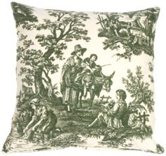 The Pillow Décor decorative pillow collection includes the Green and Cream Classic Toile Throw Pillow Blue Pillows, Throw Pillows, Custom Fireplace, Timeless Design, Living Room Designs, Red And Blue, Decorative Pillows, Tapestry, Classic