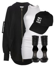 """""""Untitled #2057"""" by whokd ❤ liked on Polyvore featuring Givenchy, DRKSHDW and Rick Owens"""