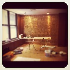 Rachael's new office is taking shape! We're loving her accent wall! What do you think?
