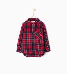 Imagen 1 de Camisa cuadros de Zara