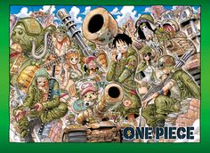 One Piece Color Spread : Chapter 741 - Strawhat military (Highlights: Zoro looks badass, Robin looks amazing, Brook is in a tank)