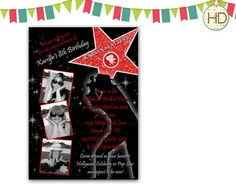 Hollywood Star Photo Invitation Red Carpet by HDInvitations