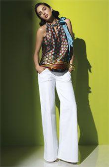 Hudson Wide Leg Stretch Jeans (Optic White) - Fashion Spotlight - White Pants - Nordstrom