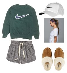 """""""Tired day"""" by paul-maysen on Polyvore featuring H&M, NIKE, UGG Australia, lululemon, women's clothing, women's fashion, women, female, woman and misses"""