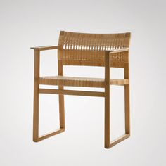 Borge Mogensen (1914-1972)  During his years at the Copenhagen School of Arts and Crafts the young Mogensen developed a close partnership with his mentor Kaare Klint and subsequently also assumed Klint's approach to simple and functional furniture design.