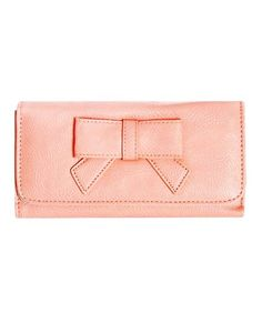 Pink Bow Ladies Leather Wallets - Bow Ladies Leather Wallets