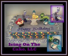 """Such an """"emotional"""" cake!  I really do love working on figurines, but I struggle because I just cannot get them perfect and it...drives...me...batty!    But, I gave it a good faith effort and I am thankful that I have clients that just let me have free reign!  www.facebook.com/icingonthecake1"""