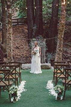 rustic outdoor wedding ceremony ideas / http://www.deerpearlflowers.com/country-rustic-wedding-ideas-and-themes/