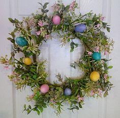 Spring Pastel Easter Egg Wreath Colorful Spring Door Wreath For Easter Wreaths For Door http://www.amazon.com/dp/B01BMRWD7W/ref=cm_sw_r_pi_dp_ZmOVwb10GMZ1R
