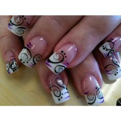 sc nails art designs 519 - CoolNailsArt ❤ liked on Polyvore