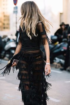 Black: Street style - Paris                                                                                                                                                                                 More