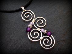 Meaningful Necklace  Aotearoa  Purple & Silver  New by ArohaJewelz, €12.50