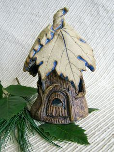 Step by step DIY fairy house - large pinecones to use for shingles, dry-brushing on some sienna and metallic gold acrylic paint, polymer clay etc. Description from pinterest.com. I searched for this on bing.com/images