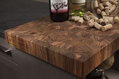 Custom Butcher Block Countertops on display