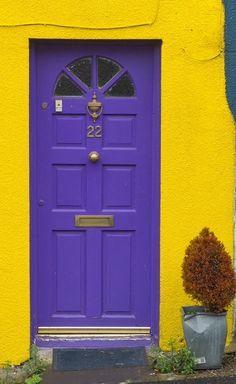 Purple door - Kinsale, County Cork, Ireland