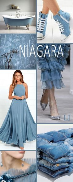Pantone Farben - love the shoes in the upper right corner Colour Pallete, Color Combinations, Color Palettes, Color Schemes, Azul Niagara, Pale Dogwood, Summer Wedding Colors, Wedding Blue, Summer Colors
