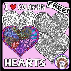 Valentine's Day is coming soon, so why not give your students these I ♥ Coloring Hearts? There are four designs - one with bigger spaces for younger kids and 3 more involved designs for older kids and adults. Use for indoor recess, parties, free time, read aloud and class decor.