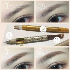スッキリと整った大人眉 Eyebrows, Eye Makeup, Hair Beauty, Make Up, Lipstick, Eyes, Beautiful, Style, Oriental