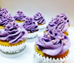 Vanilla cupcakes (Natasha's kitchen recipe) with swiss meringue butter cream.