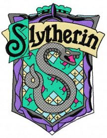 Slytherin emblem machine embroidery design. Machine embroidery design. www.embroideres.com