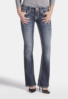 vigoss � new york embellished pocket boot cut jeans (original price, $88) available at #Maurices