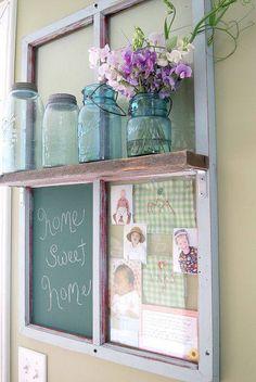 Creative: Decorate an old window