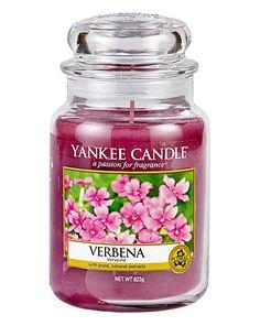 Verbena Yankee Candle Large Jar -Verbena Yankee Candle - Verbena in bloom, mixed with citrus & creamy vanilla