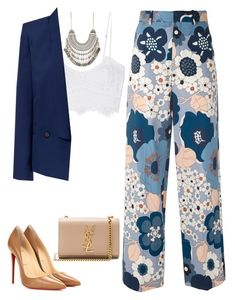 """Sem título #162"" by thatyc ❤ liked on Polyvore featuring Chloé, Miguelina, Zara, Christian Louboutin and Yves Saint Laurent"