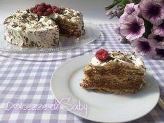 Golosissima questa torta biscottata al cioccolato con pochi ingredienti e senza usare il forno, potrete preparare questa delizia che sorprenderá i vostri o