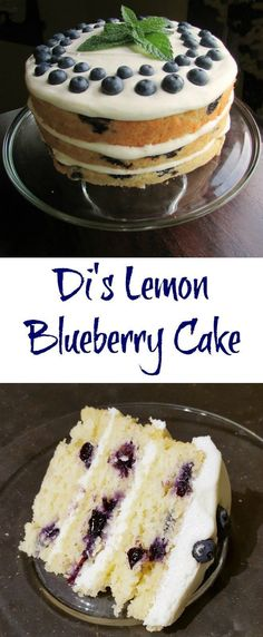 """This cake is even more delicious than it is pretty. A super moist and amazing cake with just enough lemon and plenty of blueberries all topped with a cream cheese frosting. Bake in layers or as a 9x13"""", either way it is sure to impress!"""