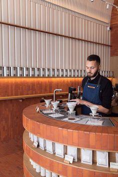 Bakery Shop Design, Coffee Shop Design, Cafe Restaurant, Restaurant Design, Food Court Design, Winning London, Espresso Bar, Cafe Interior Design, Cat Cafe