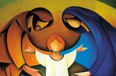 Watch the video of Il est né, le Divin Enfant. Christmas Nativity, Christmas Tag, Christmas Crafts, Catholic Art, Religious Art, Catholic Crafts, Jesus Painting, Jesus Art, Holy Family