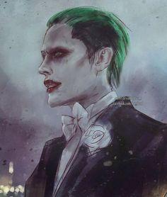The Joker from 'Suicide Squad' Der Joker, Joker Dc, Joker And Harley Quinn, Joker Sketch, Joker Drawings, Art Drawings, Suiced Squad, Jared Leto Joker, Batman Art