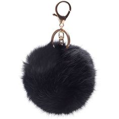 Gold Plated Keychain Cute Genuine Rabbit Fur Ball Pom Pom Keychain for... (140 ARS) ❤ liked on Polyvore featuring accessories, bags // purses, fur, fob key chain, ring key chain, pom pom key chain, pom pom key ring and keychain key ring