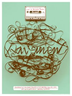 'Pavement' cassette ribbon type by jeff canham