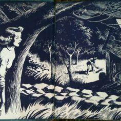 Nancy Drew endpapers.