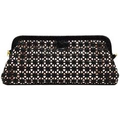 Preowned Nancy Gonzalez Croc Woven Convertible Clutch And Cross Body ($900) ❤ liked on Polyvore featuring bags, handbags, shoulder bags, black, evening bags, crossbody shoulder bags, croc shoulder bag, woven purse and woven handbags