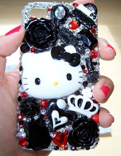Hello Kitty Decoden Kawaii Iphone 4/4S Case by KitschyGirlLuxe, $55.00
