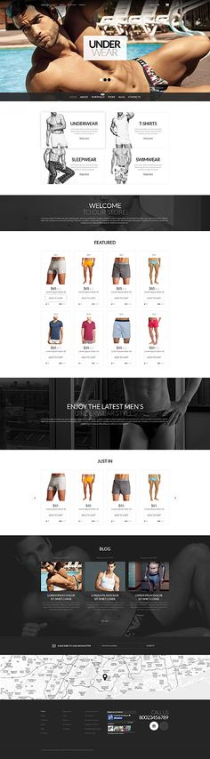 Underwear Store #WooCommerce #template. #themes #business #responsive