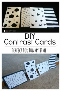 DIY contrast cards that can be made in minutes. Perfect for tummy time!