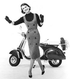 Vespa scooters & tight skirts by 50'sfan, via Flickr