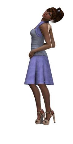She Wears A Purple Flower: Girl Friends Series # 3 - Allison Poser Tube