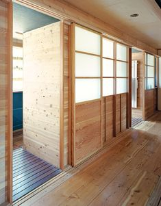 In the hallway another set of sliders shows off a mix of influences from shoji to Schindler, with multitoned wood reflecting the sunlight. Ways to Use Shoji Screens by Erika Heet from Inside Job. Browse inspirational photos of modern homes.
