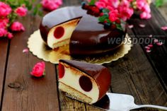 Фото Торт «Бавария» Mousse, Wedding Boxes, Love Is Sweet, Baking Recipes, Delicious Desserts, Panna Cotta, Cheesecake, Food And Drink, Pudding