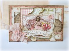 Sweet card made with G45 Little Darlings