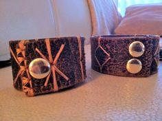 recycling old leather belts into bracelets