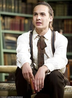 British born: Frank Dillane,  23, rose to fame in the Harry Potter franchise; here he is seen in the play Candida in 2013