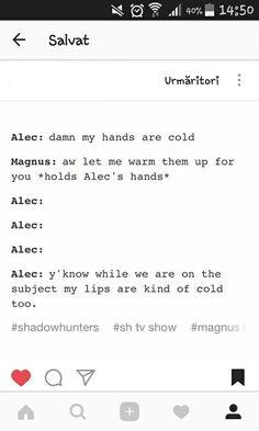 Cold ... shadowhunters, alexander 'alec' lightwood, magnus bane, the mortal instruments, malec