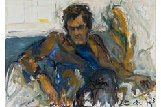 Robert De Niro by Elaine de Kooning 1973  More Information: http://artdaily.com/news/77102/National-Portrait-Gallery-presents-rarely-seen-portraits-by-Elaine-de-Kooning#.VQRvw47F_MU[/url] Copyright © artdaily.org