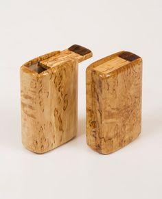 Wooden cigarette case holder from masur birch by KolechkoCom